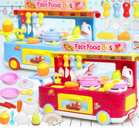 29PCS Pretend Kitchen Play Children Toy Role Play Mini Simulation Kitchenware Cookware Trolley For Kid Toy Gifts