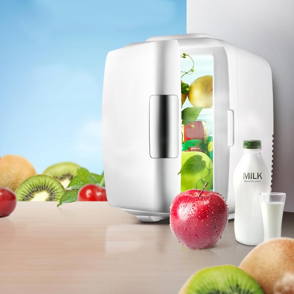 Мини-автомобиль холодильник 9л двойного назначения портативный холодильник домашний Автомобиль В 220 В в 12 в морозильник охлаждение потепле...