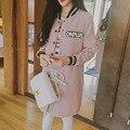 Новый 2016 Весенняя Мода Долго Женщин Бейсбол Куртки Осень Женщины Куртки Пальто Тонкий С Длинным Рукавом Повседневные Куртки Женский Clothing