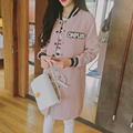 Novo 2016 moda primavera mulheres longas jaquetas de beisebol mulheres outono jaquetas casacos magro clothing manga comprida jacket casual feminino