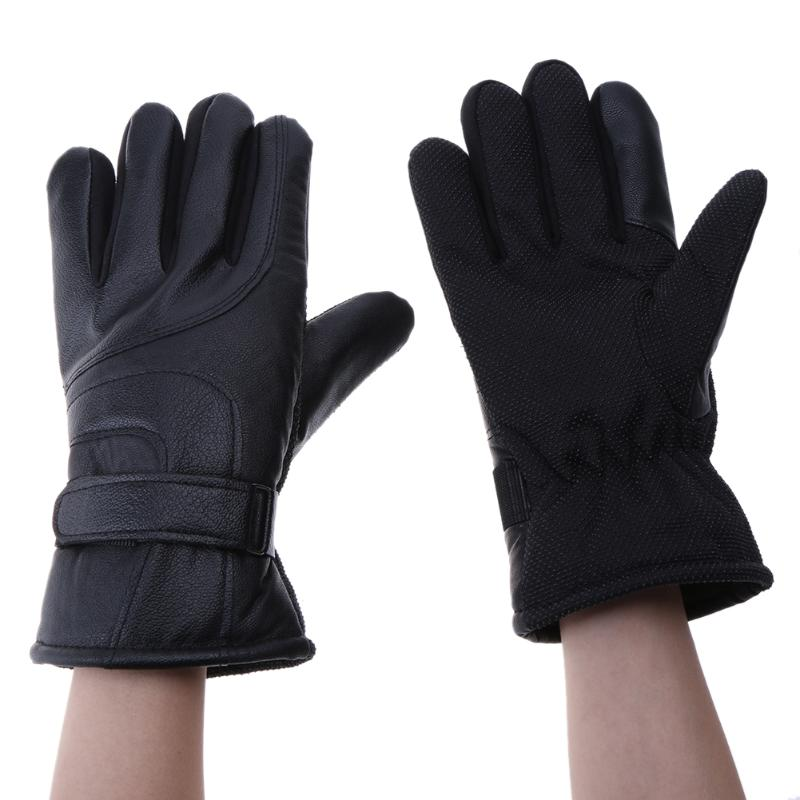 Motorcycle Gloves Winter Warm Skid Riding Leather Gloves Touch Screen Thickening Plus Velvet Outdoor Windproof Movement