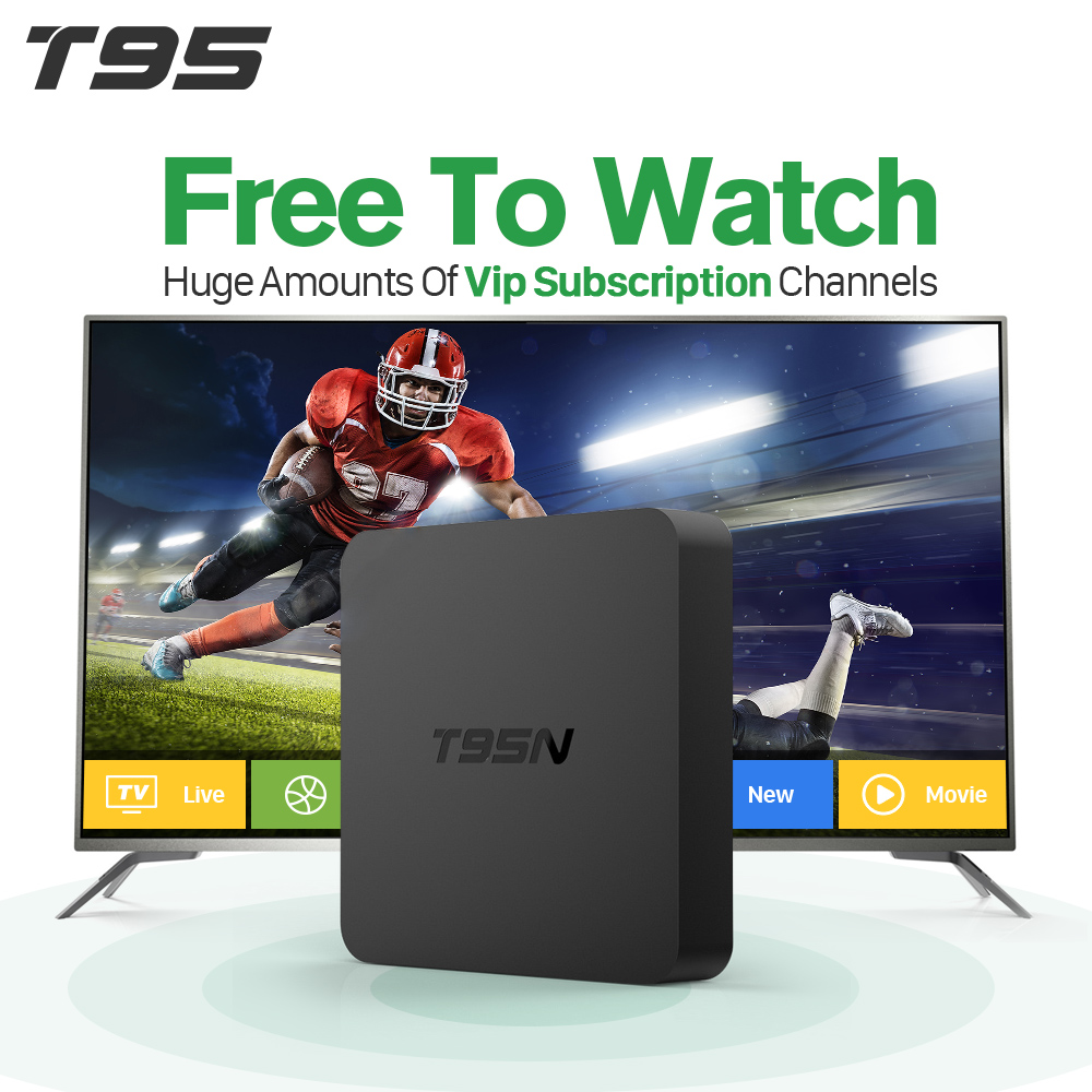купить T95N Smart Android TV Set Top Box 2g IPTV Italy Europe Arabic QHDTV Subscription 1 year Spain Netherlands TV Receiver недорого