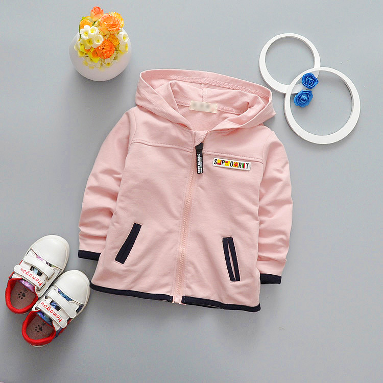 The new fall baby small coat pure color zipper coat series a undertakes k1 4acf242e33b3