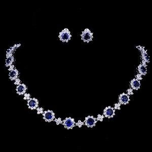 Image 4 - Emmaya ensembles de bijoux de luxe en cristal Zircon cubique, ensembles collier boucles doreilles pour femmes, fête de mariage