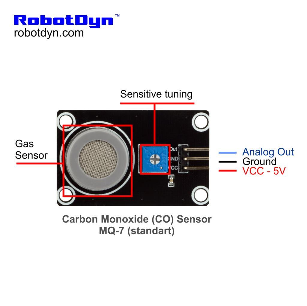 Carbon Monoxide Co Sensor Mq 7 Standart In Sensors From Mq7 Circuit Diagram Wiring