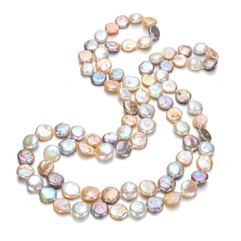 SNH 12-13mm pièce 40 pouces naturel collier de perles d'eau douce cadeau pour mère perle bijoux collier ras du cou femmes