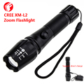 LED Flashlight CREE XM-L2 olight Support 18650 battery direct charge Outdoor lighting tactical flashlight