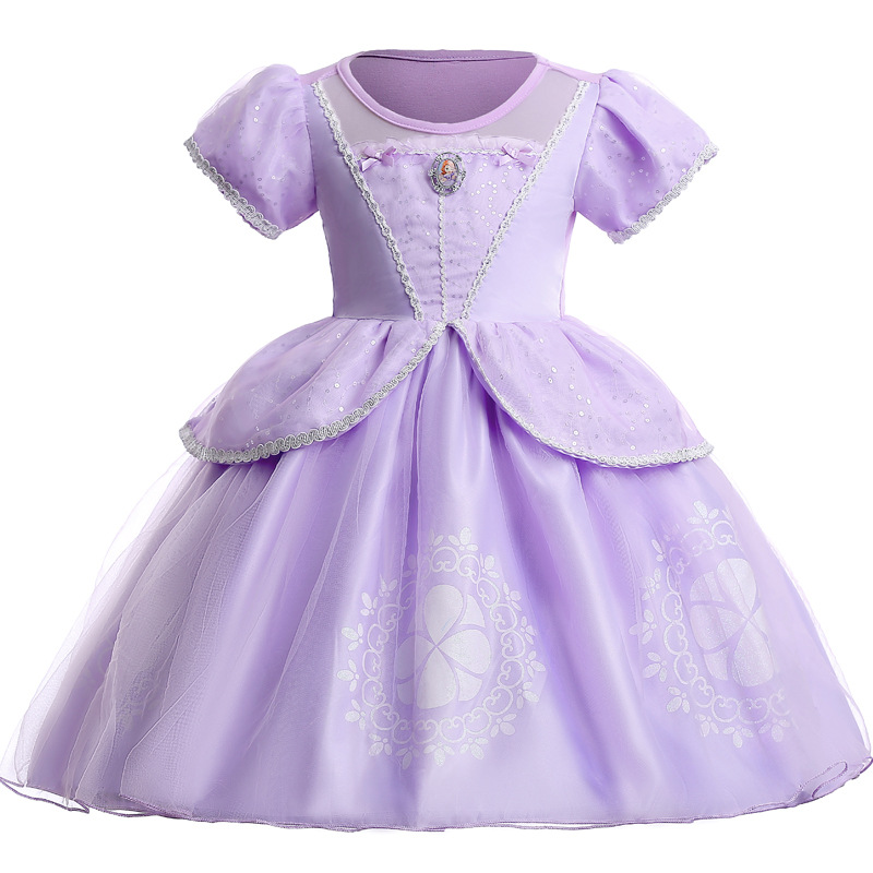 Christmas Girls Princess Sophia Dress Cartoon Party Cosplay Dress Fancy Princess Dress Children Clothing Kids Dresses For Girls
