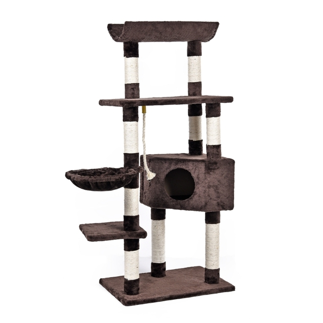 Cat Tree House For Cat Furnitureu0026Scratchers Scratching Posts For Cats Pet  Sleeping Bag Cat Climbing Frames