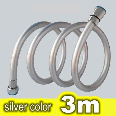 פיצוץ הוכחה צינור אינסטלציה צינור מים זרבובית אמבטיה צינור מים צינור מקלחת צינור אינסטלציה צינור 3 מטר צבע כסף