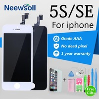 AAA Quality For IPhone 5S LCD Display Screen With Touch Pad Digitizer Assembly Replacement LCD 5S
