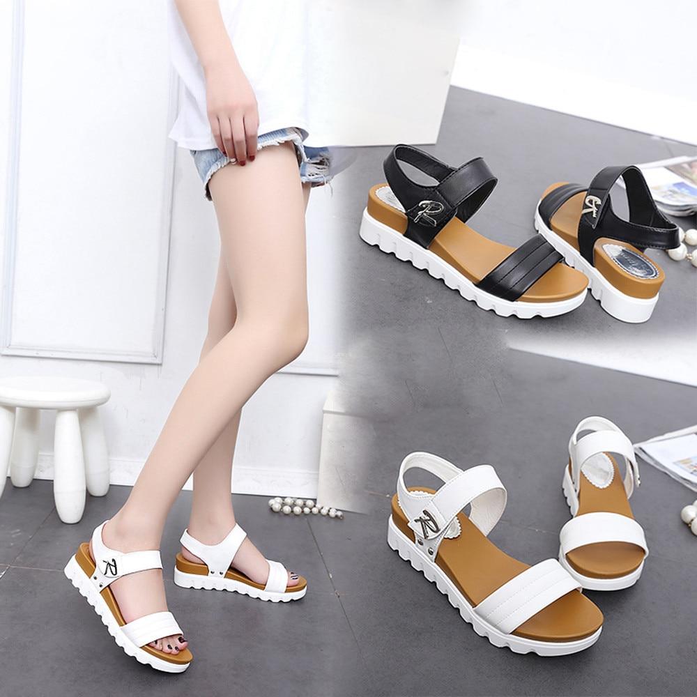SAGACE vasaras sandales Sieviešu vecuma dzīvoklis Modes sandales - Sieviešu apavi