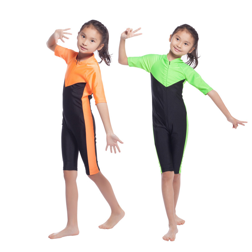 S-XL new girls One-Piece Suits islamic swim for kids m l swimsuit muslim without pad wire free nylon and lyca 2017 hot