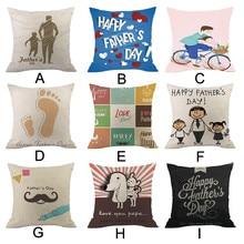 Father's Day Cushion Cover Linen Pillowcases Comfortable Sofa Home Decor Pillow Cover Housse de Coussin Pillow Case Kussenhoes стоимость