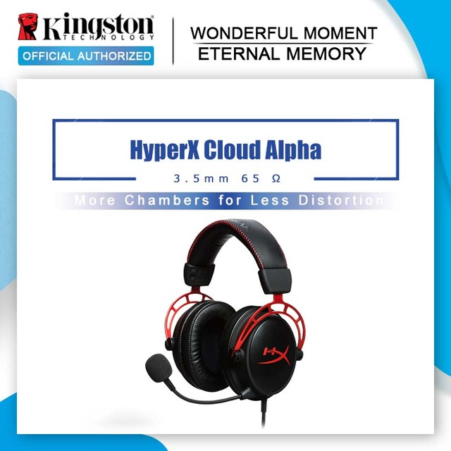 Kingston E sports Headphones With a microphone Black Gold Limited Edition HyperX Cloud Alpha Gaming Headset For PC PS4 Xbox