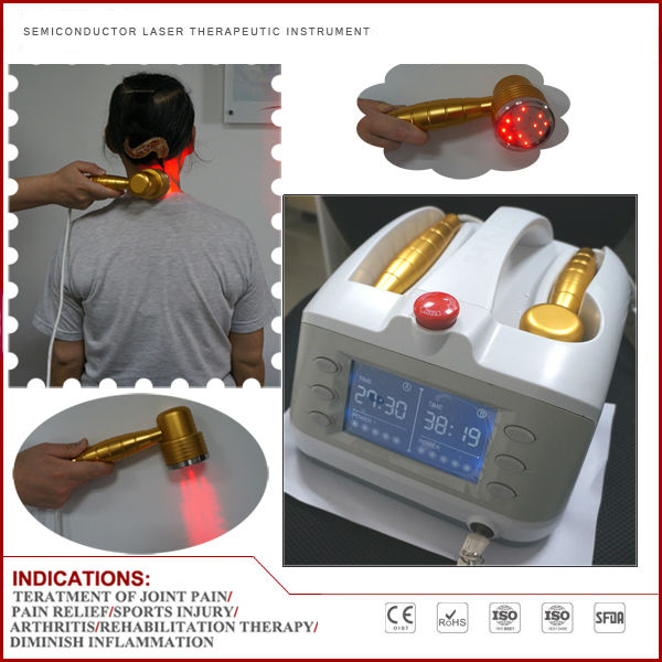 CE Home Care Physiotherapy Multi Functional Body Pain Relief Class 3B Device Diode Low level soft laser therapy 2 Laser Probes ce marked laser physiotherapy pain relief medical equipment back pain relief machine