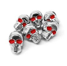 6 Pcs x 5mm Thread Size Chrome Skull Frame Fairing Screw Bolt For Honda VT Shadow Spirit Velorex Deluxe 600 750 1100(China)