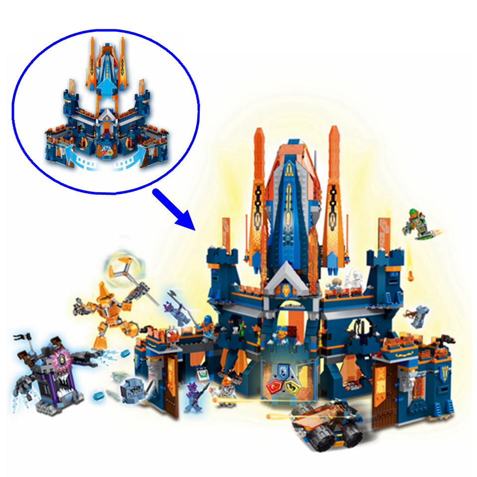 1468pcs Nexoe Knight Figures Building Blocks Compatible Legoe Nexoe Knights 70357 Knighton Castle Bricks Toys for Children Gift castle and knight