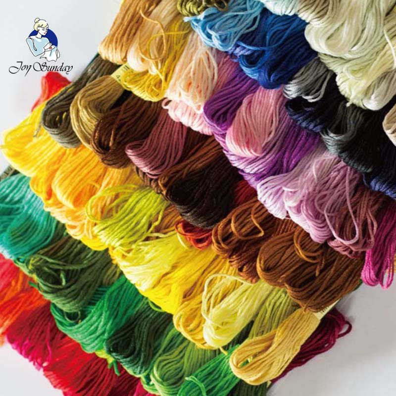 JOY SUNDAY,DMC613-725 10PC set 1 strands 1.2 meters skein Color Variation Embroidery Floss Overdyed Cotton Cross stitch Threads