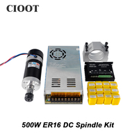 Brushless 500W CNC Machine Tool Spindle Router DC Spindle 55MM Clamp Stepper Motor Driver Power Supply