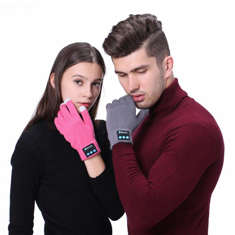 High Quality Music Headset Speaker Smart Touch screen Winter Warm Knit Gloves Outdoor Rechargeable Wireless Bluetooth