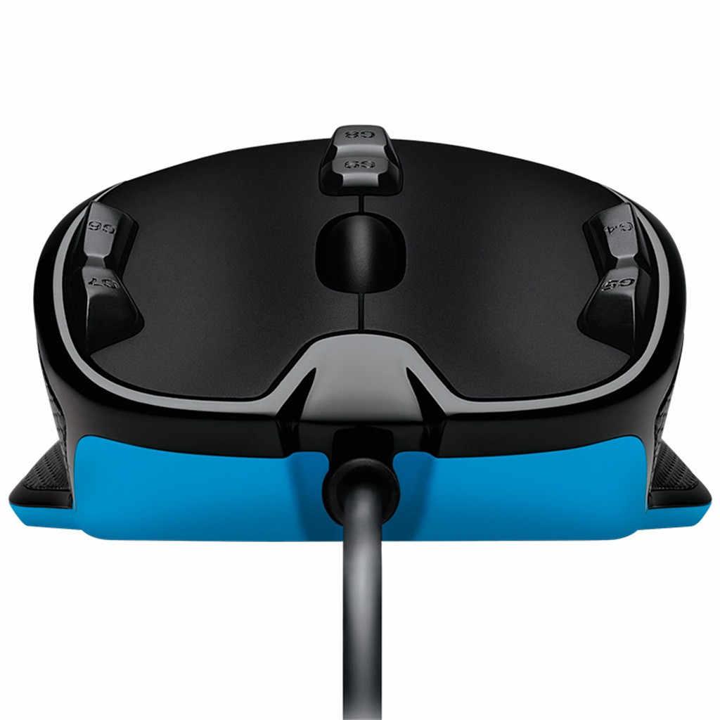 100% Asli Logitech G300S USB Wired Gaming Mouse 2500DPI Programmable Optical Mouse dengan 7-Warna Indikator Mouse Gamer 19Jul03