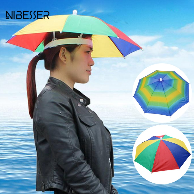 Portable Umbrella Hat For Women Men Waterproof Sun Protection Outdoor Pesca  Caps For Women Men Dropshipping 525391e7ac5