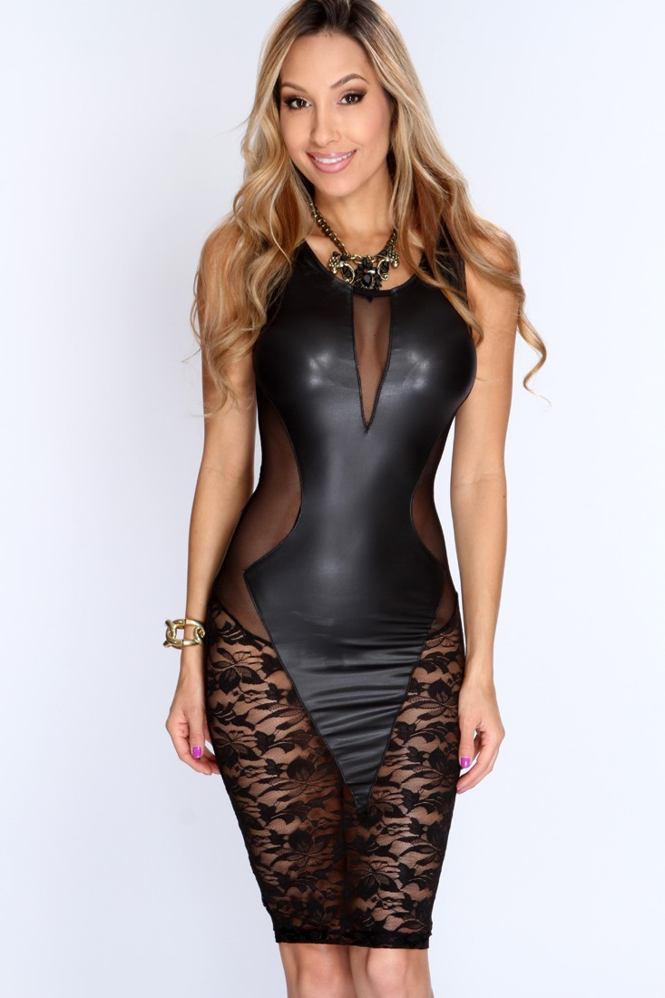 little black leather dress page 1 - sleeves