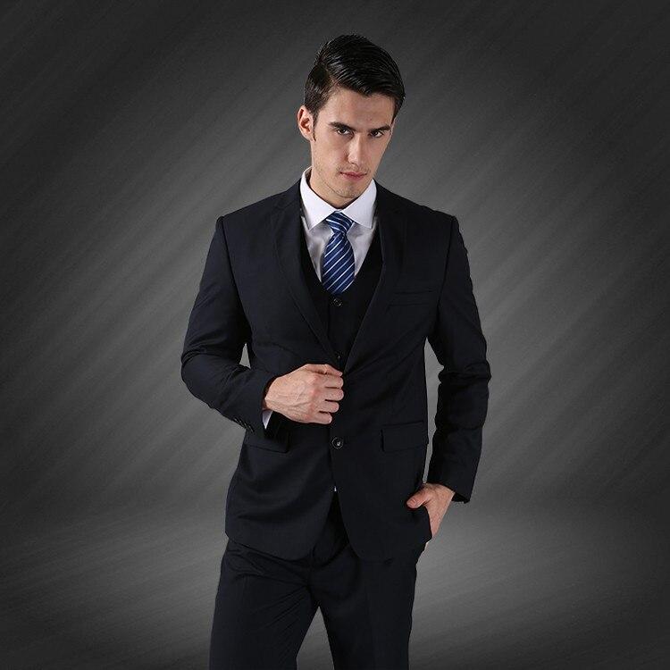 (Jope + vest + püksid) meeste äri ühe rinnaga peidetud peigmees - Meeste riided - Foto 2