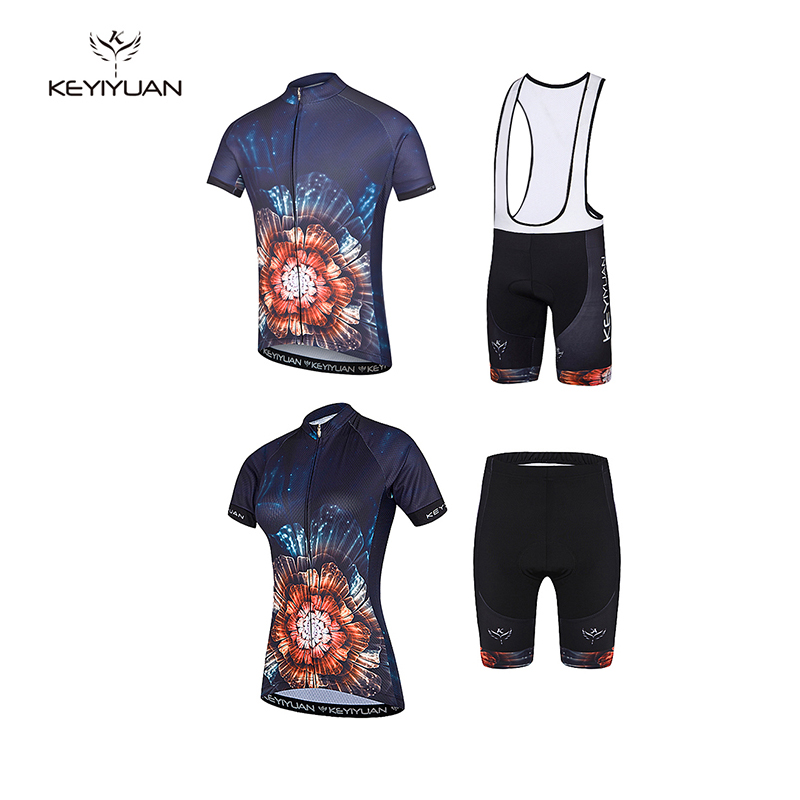 keyiyuan 2017 summer breathable mountain men and women couple riding clothes quick dry short sleeve riding