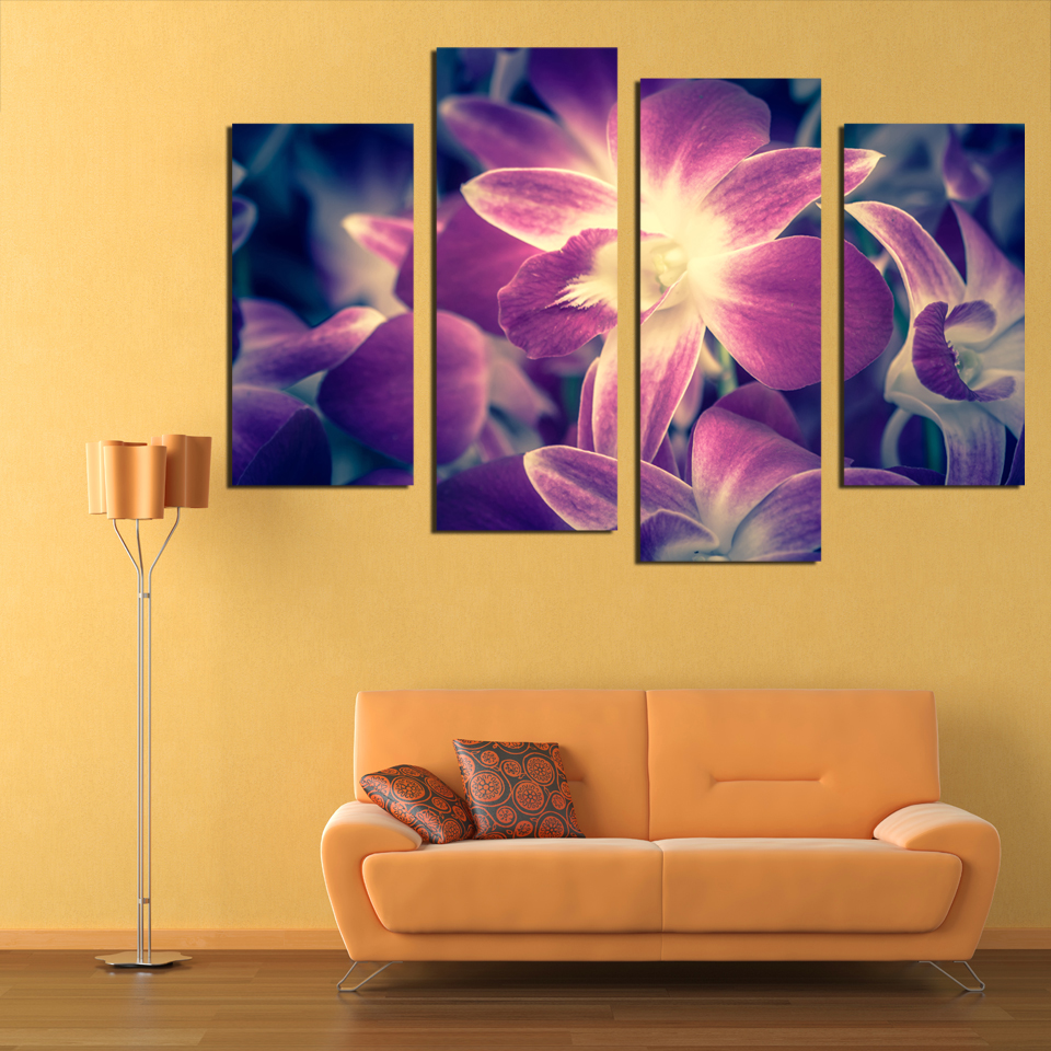 Fantastic Plum Canvas Wall Art Vignette - The Wall Art Decorations ...