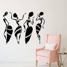 YOYOYU Wall Decal Beauty Salon African Women Face Style Pattern Vinyl Wall Sticker Window Fashion Decoration Customized WL01 yoyoyu wall decal girls beauty center vinyl wall stickers spa salon logo window decals art removable flower pattern design sy920