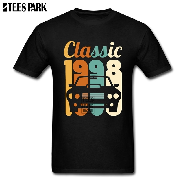 Men 2018 Clothing Vintage 1998 Birthday 20th Gift 20 Years Old Cool T Shirts Design