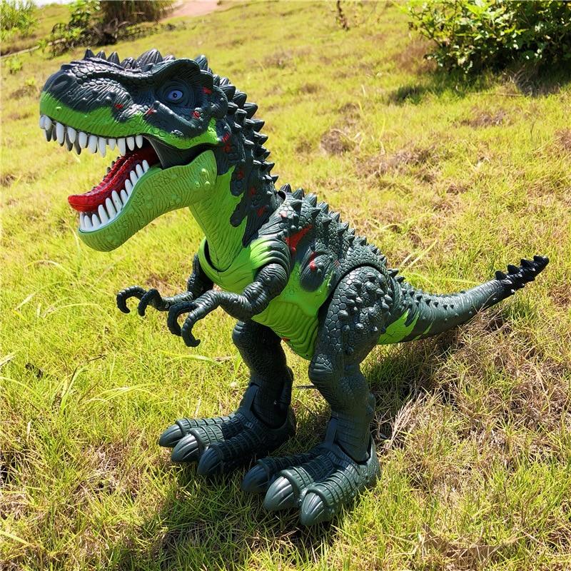 48cm robo dinossauro tiranossauro dragao eletronico brinquedo 04