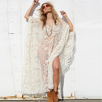 Long Lace Sexy Beach Cover Up Swim Dress Women Beach Dress Bikini Cover Ups Swimwear Women Bikini Swimsuit Cover For Vocation