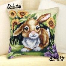 DIY knitting needles kit rabbit cross stitch