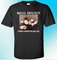 Casual T Shirt Male Pattern New ORDER Power Corruption And Lies Men's Black T-Shirt Size S to 3XL Hot Sale Casual Clothing