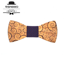 Rewood Christmas Gifts Fashion Wedding Decoration Donald Trump Bow Tie With Print Wooden Bow Ties For