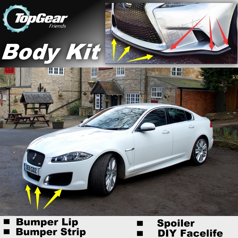 2015 Jaguar Prices: Bumper Lip Deflector Lips For Jaguar XF 2007~2015 Front