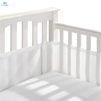 Breathable Mesh Baby Crib Bumper Liner for Newborn Summer Bumpers Collision Proof Fence