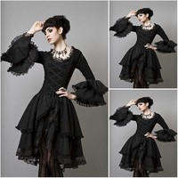sc 1230 Victorian Gothic/Civil War Southern Belle loose Ball Gown Dress Halloween Vintage dresses Custom made