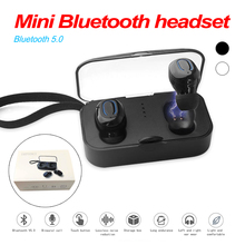 T18S Mini Invisible Bluetooth Earphones 5.0 TWS Mini Wireless Earbuds Stereo Deep Bass Headset With Charging Box Portable цены