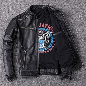 Image 4 - MAPLESTEED Distressed Leder Jacke Männer Vintage Motorrad Jacke 100% Natürliche Kalbsleder Herren Motor Jacken Biker Mantel M202