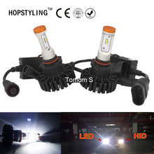2Sets/lot 9005 HB3 9006 HB4 H10 80W For Philips 8Chip LUXEON Z ES Headlight Kit Replacement Bulb Headlamp CSP 6500K Lumileds TU