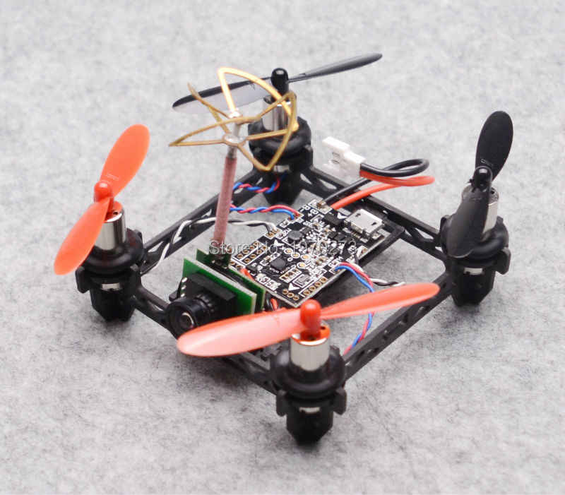 Tiny QX80 80mm Micro Racing Quadcopter F3 EVO Brushed Flight Control + 8520 coreless motors 1000TVL Camera Built-in Transmitter