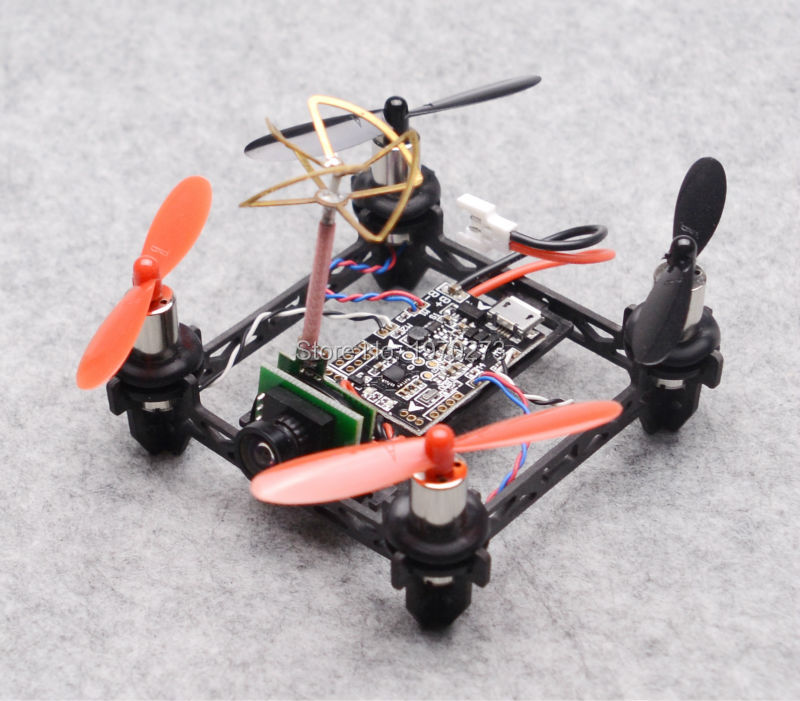 Tiny QX80 80mm Micro Racing Quadcopter F3 EVO Brushed Flight Control + 8520 Coreless Motors 1000TVL Camera Built-in Transmitter