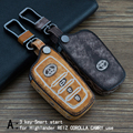 Genuine Leather CAR KEY CASE For TOYOTA HIGHLANDER REIZ COROLLA CAMRY RAV4 CROWN Use Automobile Special-purpose CAR KEY HOLDER