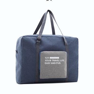 Мужские дорожные сумки, водонепроницаемая нейлоновая складная сумка для ноутбука, вместительная сумка для багажа, дорожные сумки, портативные женские сумки - Цвет: blue 2