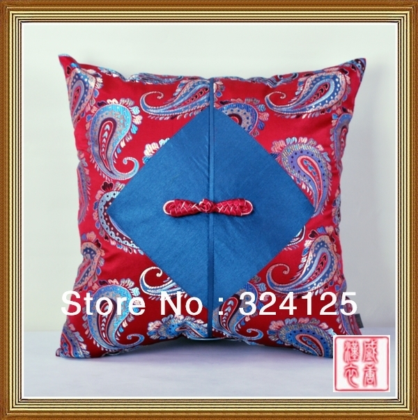1pair 45*45CM Free Shipping Chinese traditional handmade frog damask pillow cover Cushion cases 15 colors in