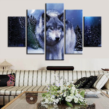 3d Diamond embroidery full drill cross stitch square diamond home decor 5d pictures of wolves painting diy diamond painting 5pcs